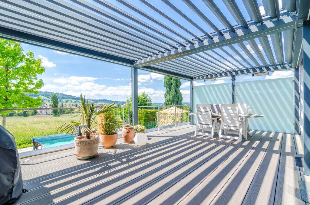 Immobilienfotografie Schweiz Pergola