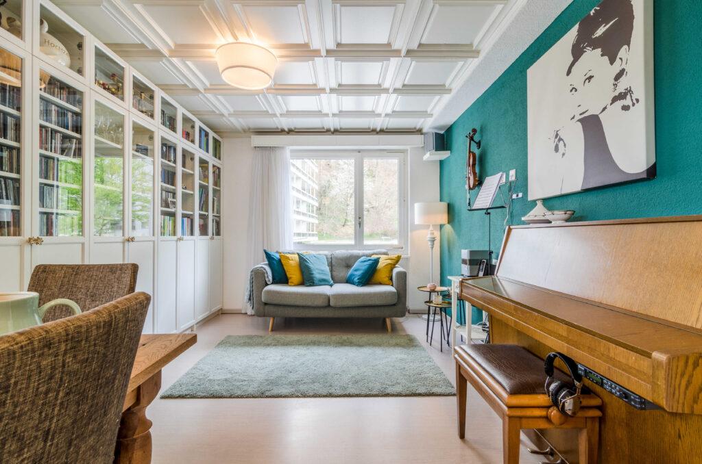 Immobilienfotografie Schweiz Wohnzimmer